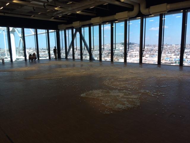 Mona Hatoum inside Pompidou