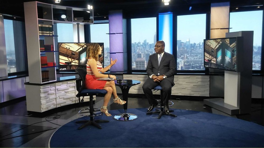 M. Amenounve, CEO of BRVM, West African Regional Stock Exchange at Voice of America, NYC, May 2016