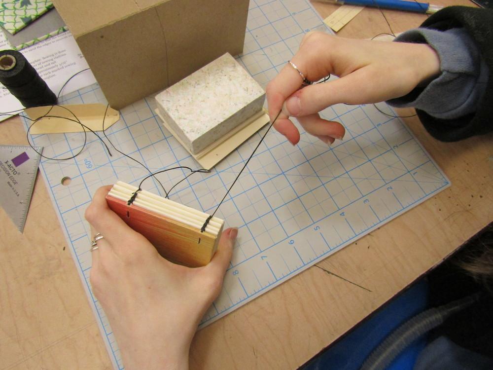 Sewing a Coptic Book