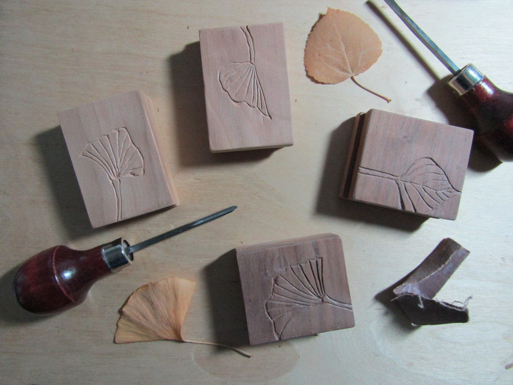 Carving and sanding the covers.
