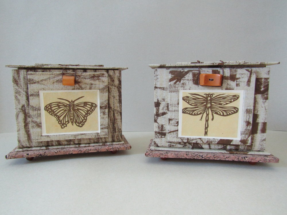 Completed Butterfly and Dragonfly reliquaries.