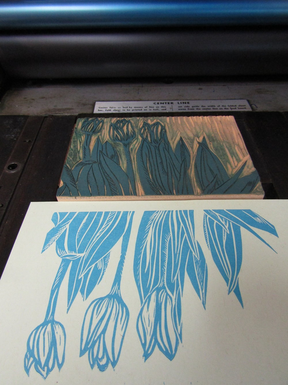 Printing the tulips - one of my personal favorites!