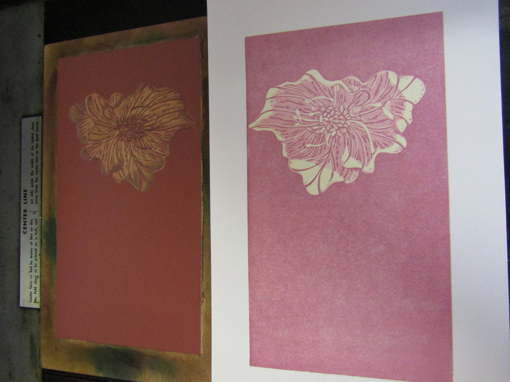 Printing the flower - oh so love how the layers and details are coming together.