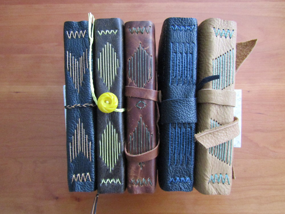 Sewn spines.