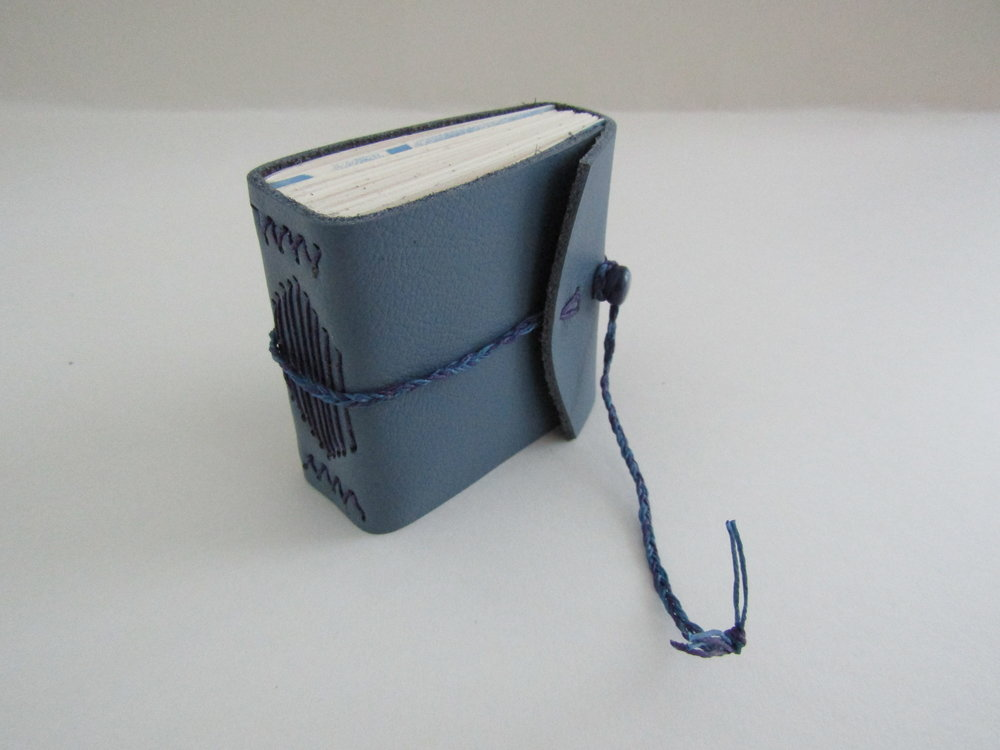 The blue leather journal came together nicely.