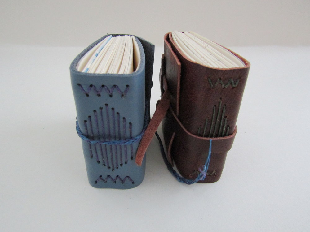 Sewn diminutive journals - special books for creative thoughts, words, and deeds!