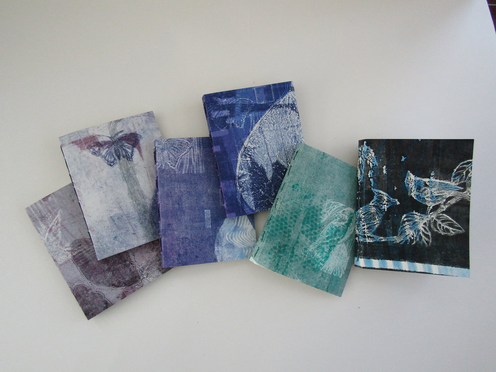 Beautiful prints resulted in beautiful pamphlet journals!