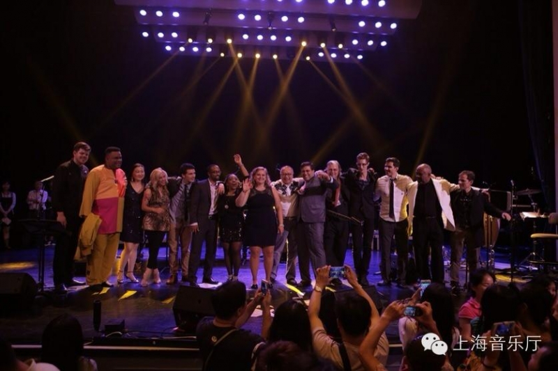 At the Shanghai Concert Hall with Jordon Rose, Larry Watson, Jie Wang, Amanda Carr, Spencer Stewart, Kevin Harris, Gabrielle Goodman, Holly Constant, Tom Stein, Jon Finn, Cale Hawkins, Trey Macias, Kenn Brass and Jeff Harrington