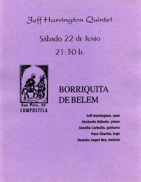 Jeff Harrington Quintet,Santiago de Compostela, Spain