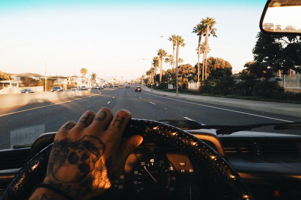 Driving on PCH.   © Lonnie Webb