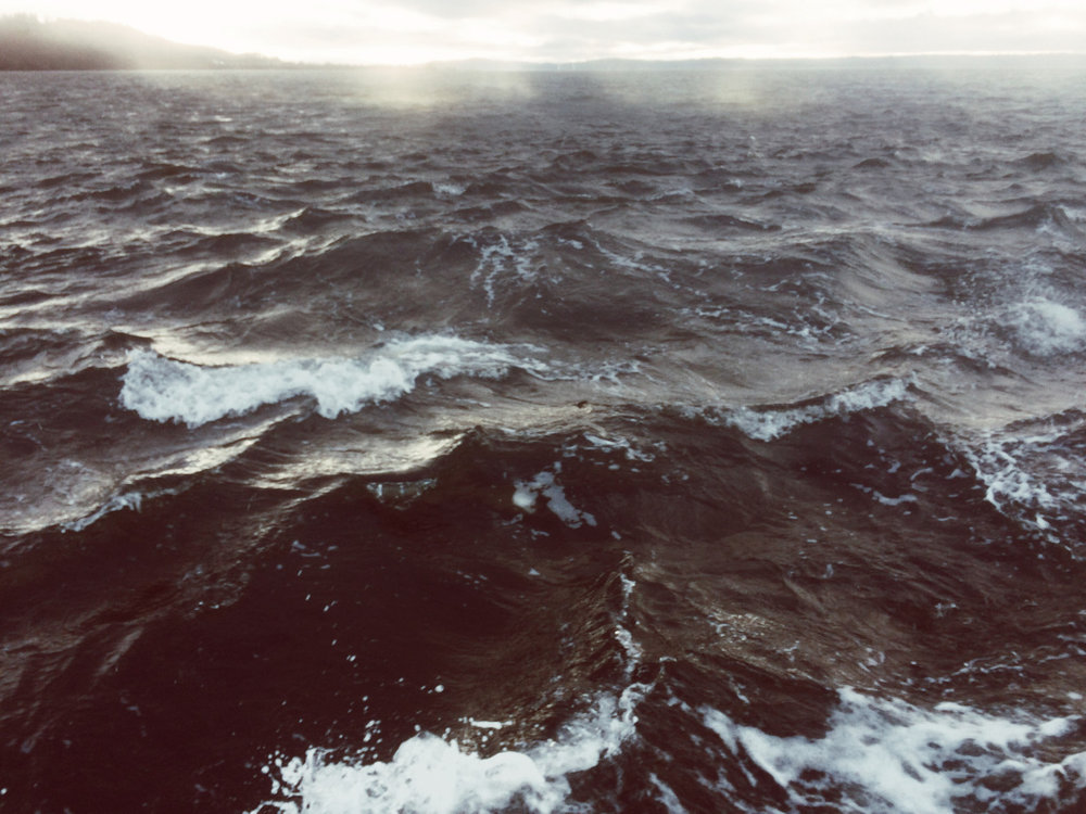 December waters. Sailing after the storm by  Lon .