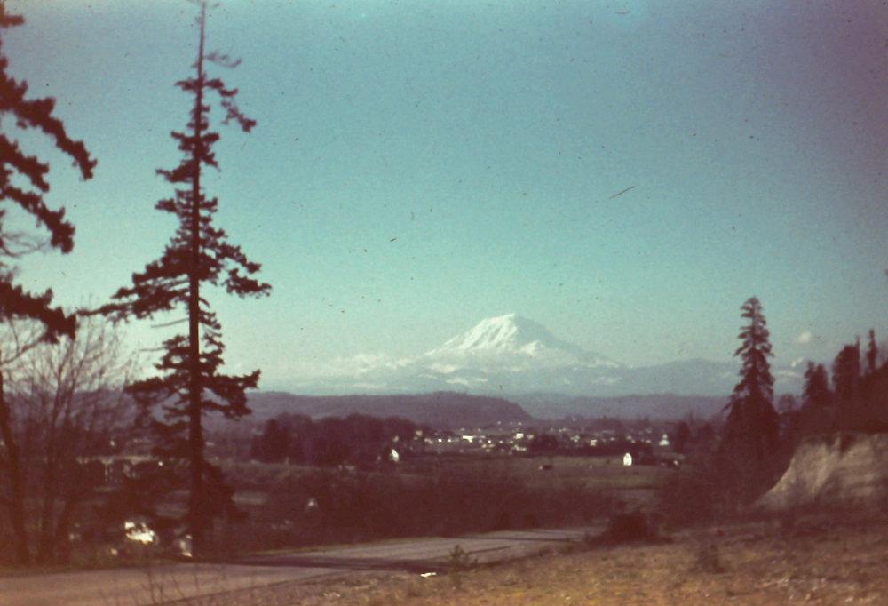 Mt. Rainier, 1950. By my grandpa, Frank Miller.