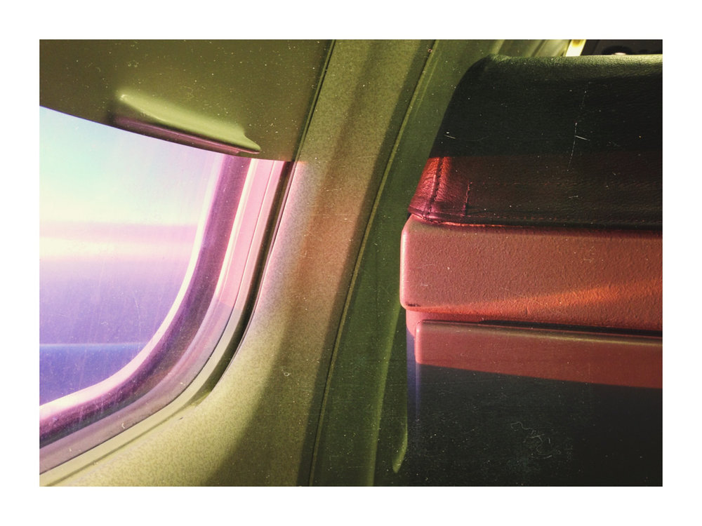 Last nights sunset from the plane