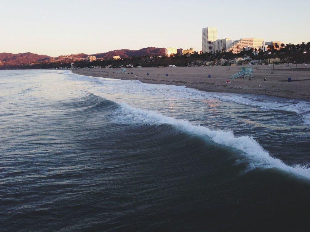 Sunrise in Santa Monica (taken with Instagram)