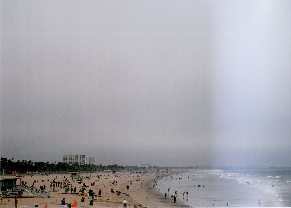 © LONNIE WEBB    The beach from the Santa Monica Pier