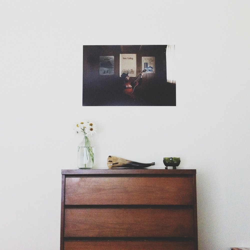 ©  Lonnie Webb    I found this dresser and Goodwill for $4.99, was pretty pumped when I saw it! Above it, is the first print I've had made of my professional work.