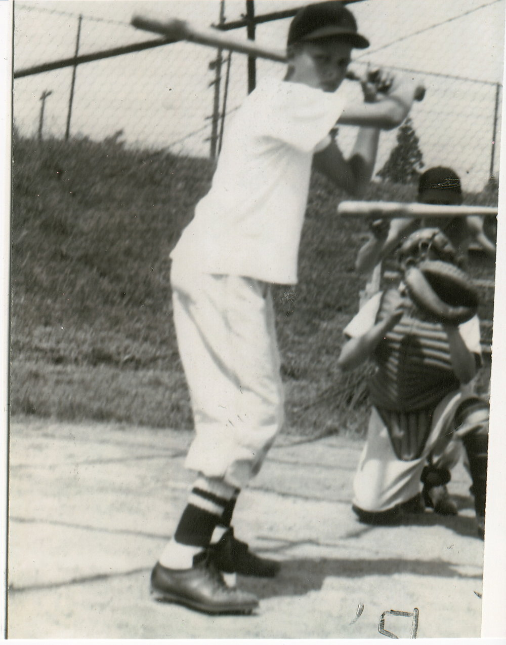 Happy fathers day to my dad! This photo was taken of him playing baseball in 1951 at a local field in Seattle, Wa.