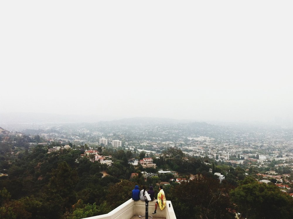 ©   Lonnie Webb      Grabbed a coffee and watched the sunrise at the Griffith Observatory.
