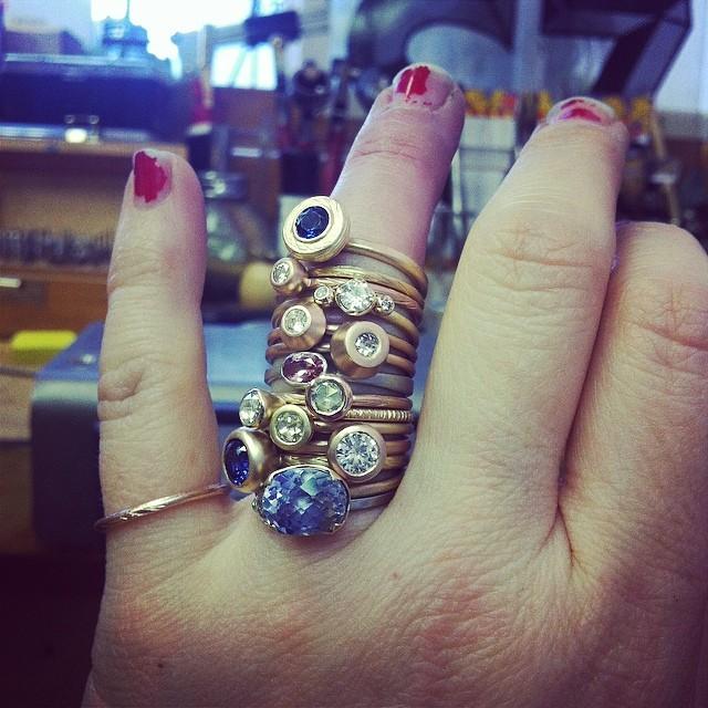 Too much? #galleryofjewels #summeroflove #moissanite #labsapphire #engagementrings #entrepreneursaturday