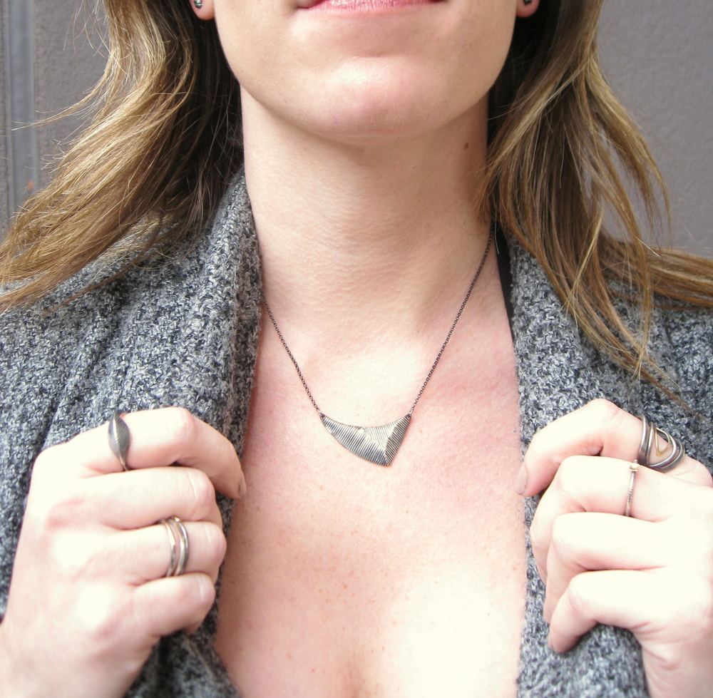 apex necklace in oxidized silver - Sharon Z Jewelry by Sharon Zimmerman