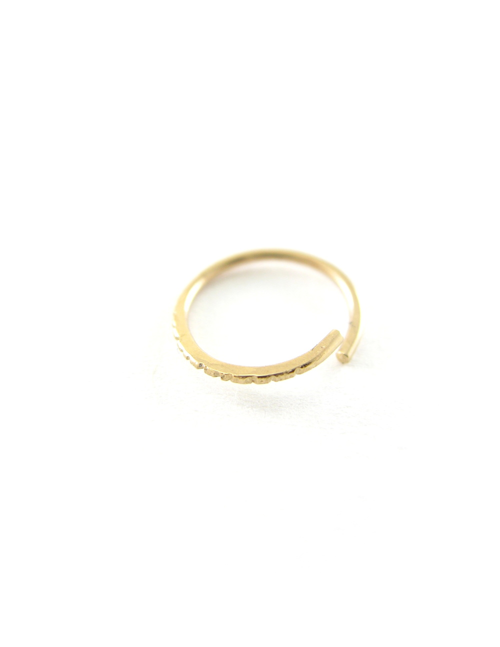 TEXTURED NOSE RING - RECYCLED 14K GOLD — Sharon Z Jewelry