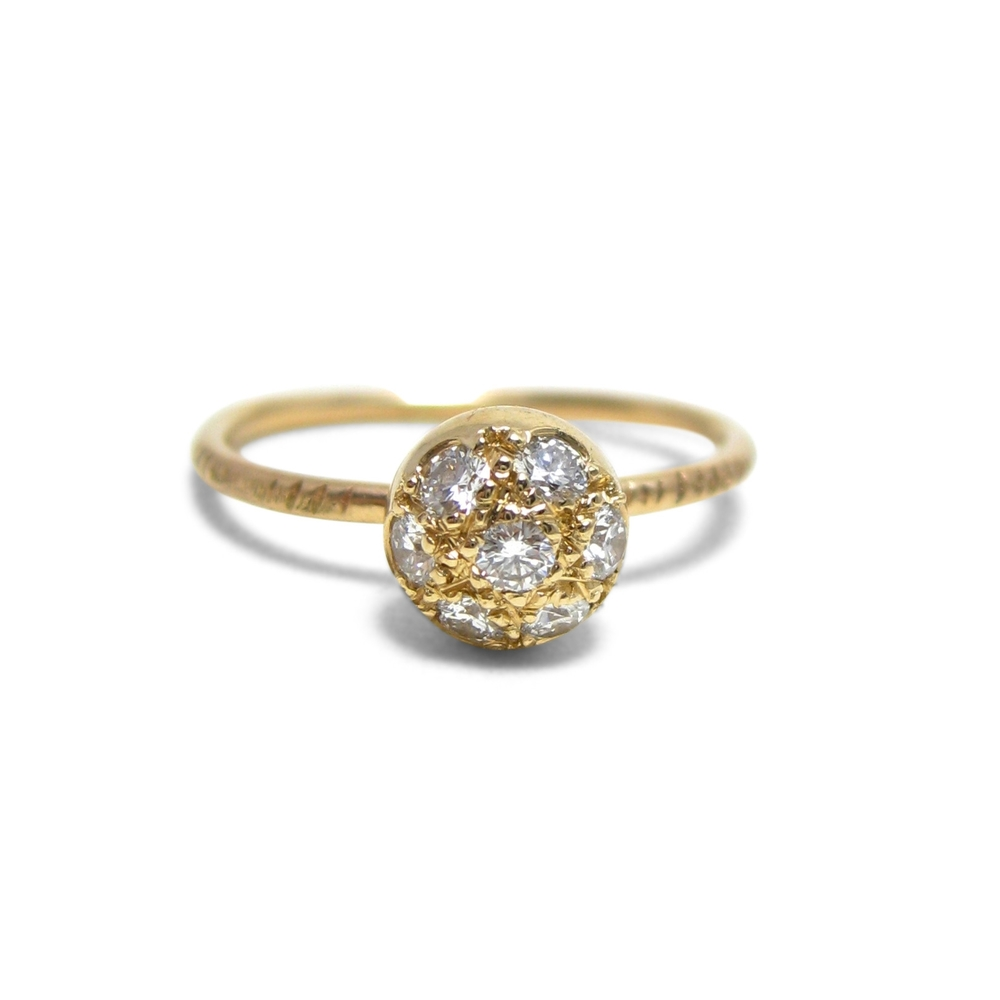 Custom ring with recycled diamonds and recycled gold -Sharon Z Jewelry by Sharon Zimmerman