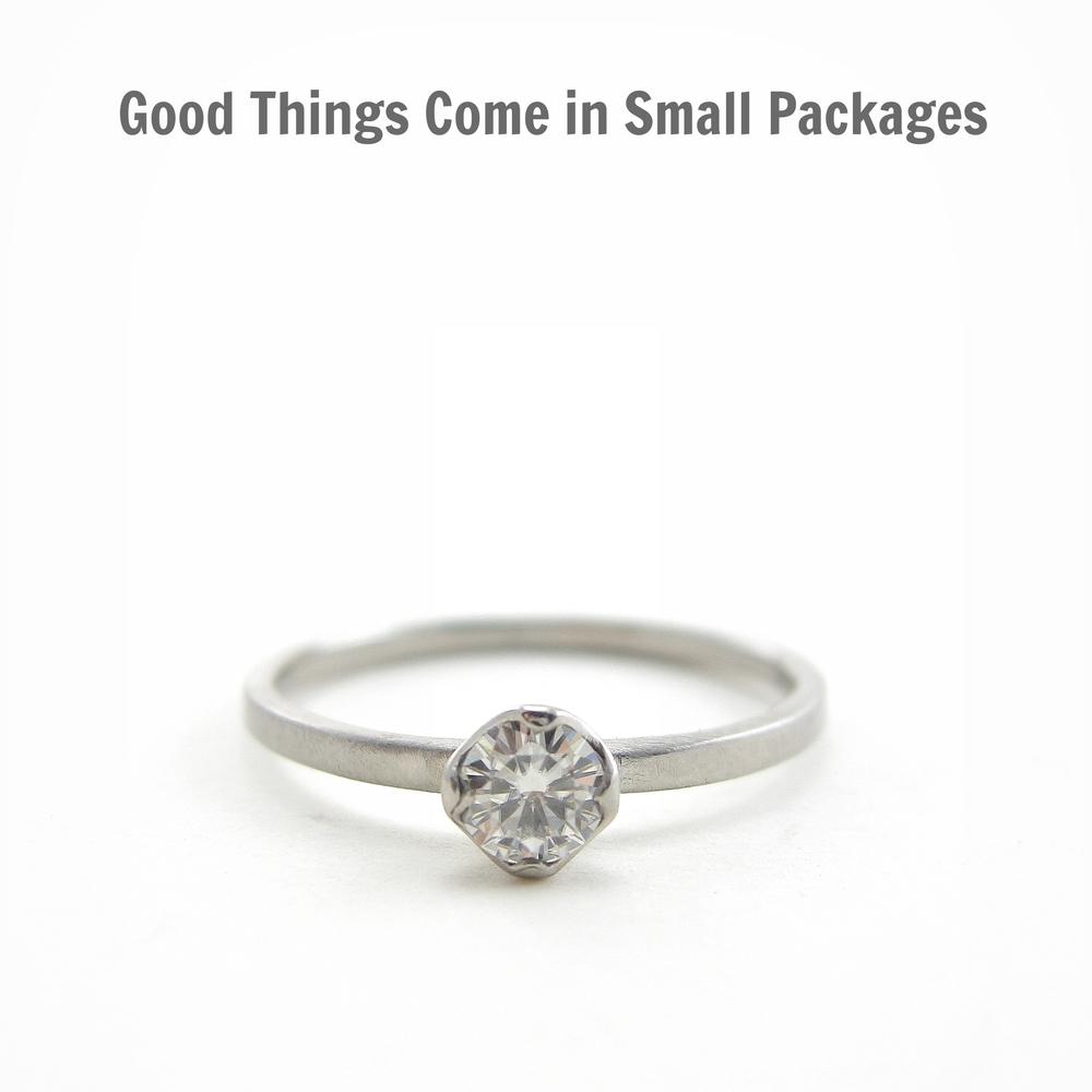 Good Things Come in Small Packages Small Engagement Rings