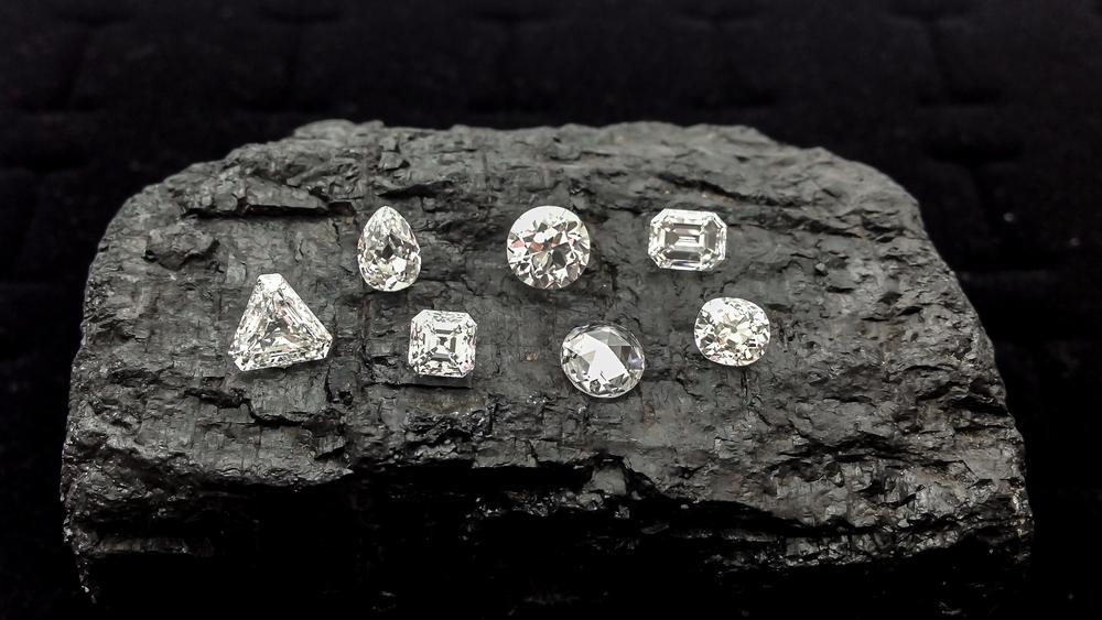 Antique DIamonds, Old Mine Cut Diamonds and Old European Cut Diamonds from Perpetuum Jewels