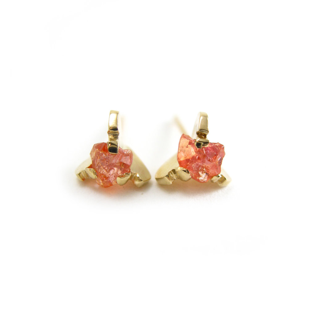 big stud in padparadscha gold heart co yellow sapphire jewelry earrings