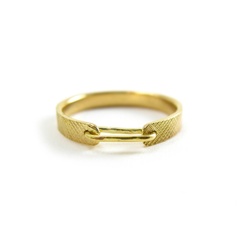 linked in love band wedding band gold band gold ring recycled gold