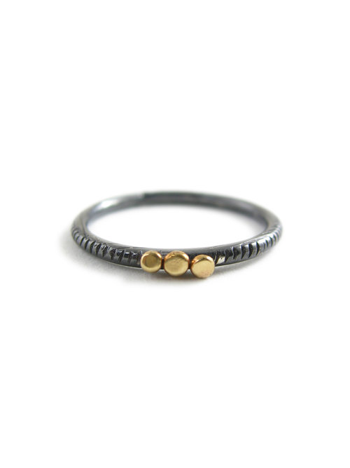 Nch Stacking Ring Mixed Metal Stacking Ring Recycled Silver Recycled Gold 14