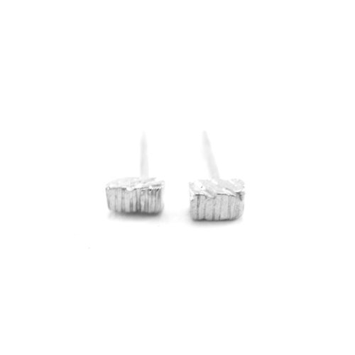 98aad5fcd TINY STICK PLATINUM EARRINGS - RECYCLED PLATINUM - Perfect for starting  your own ear stack -