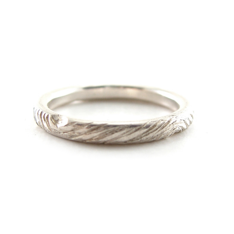WOODLAND WEDDING BAND   RECYCLED 950 PALLADIUM   ECO FRIENDLY