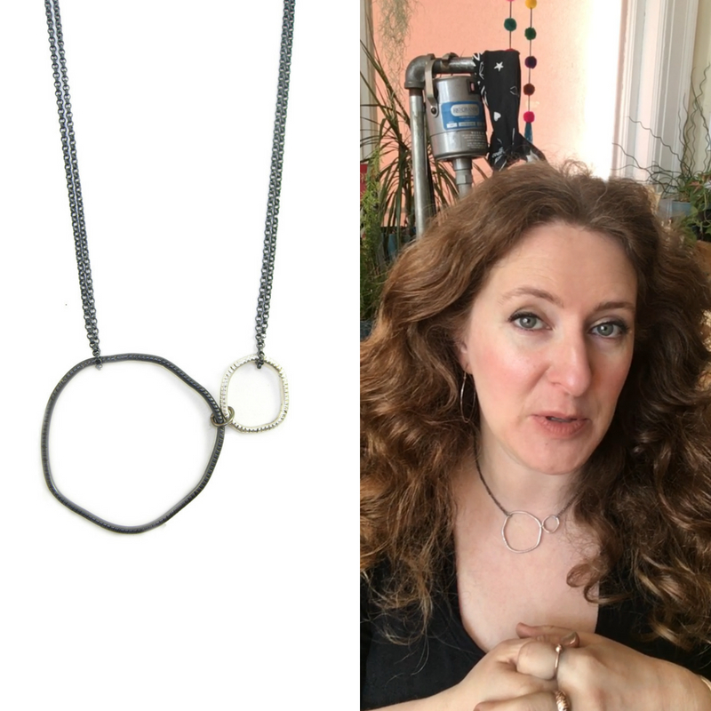 Double river stone necklace - collage - selfie.jpg