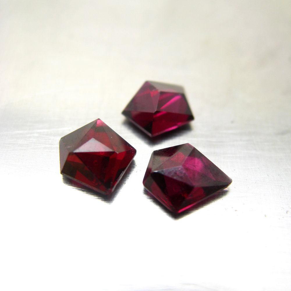Ant-hill garnets - these were some of my favorite finds in Tucson