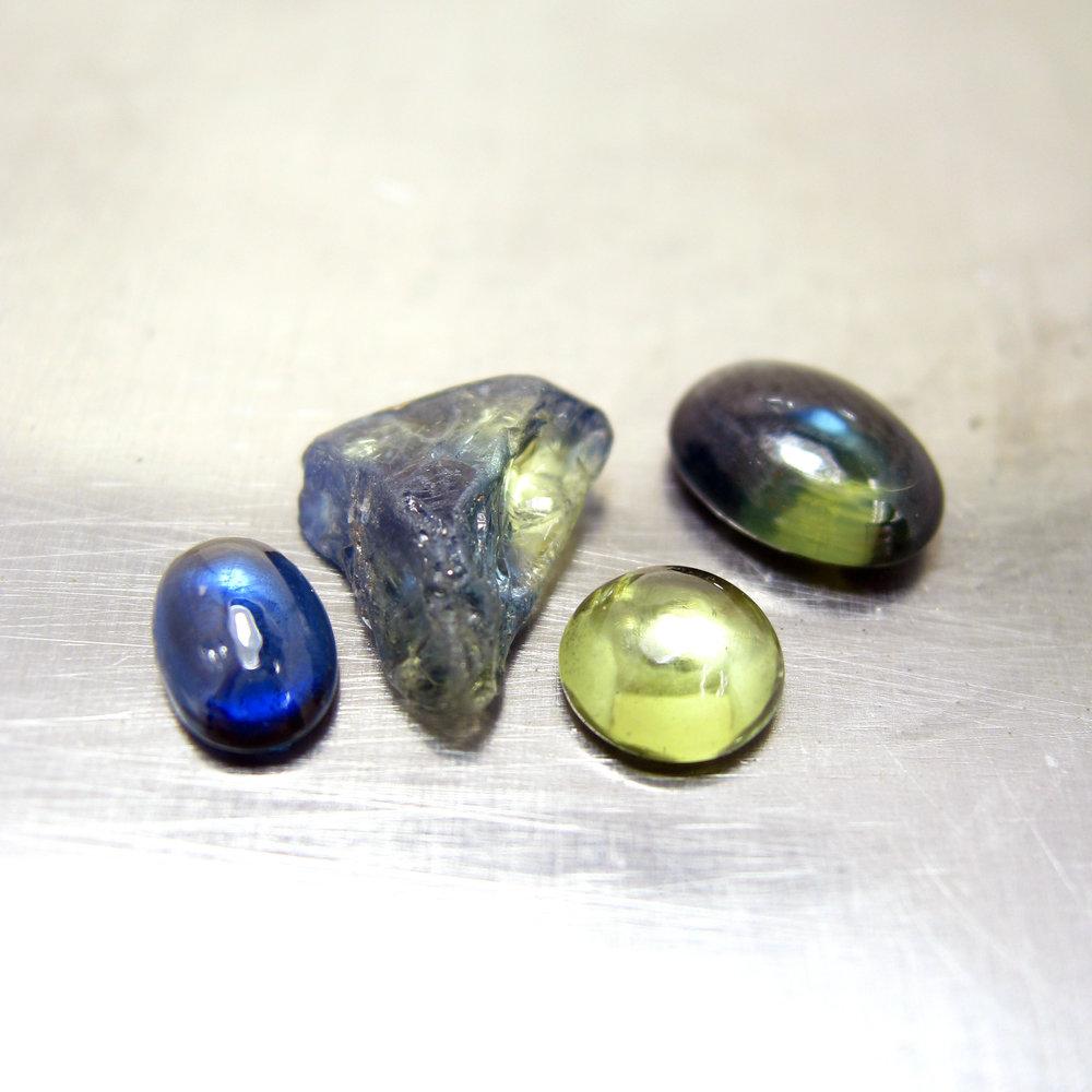 Australian bi-color sapphires. The colors were un-freakin-real.