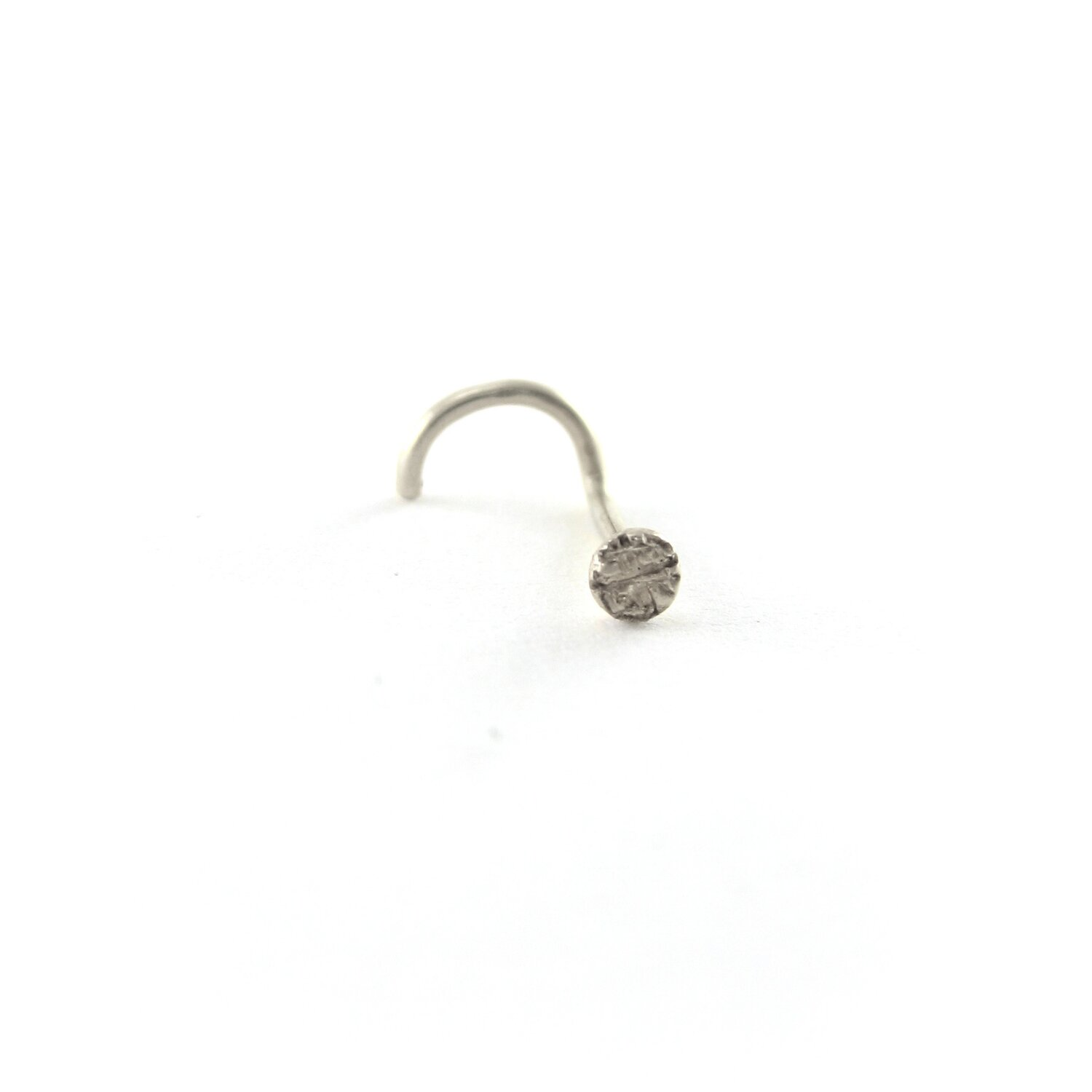 4fa33fc16 PEBBLE NOSE STUD - RECYCLED PLATINUM — Sharon Z Jewelry