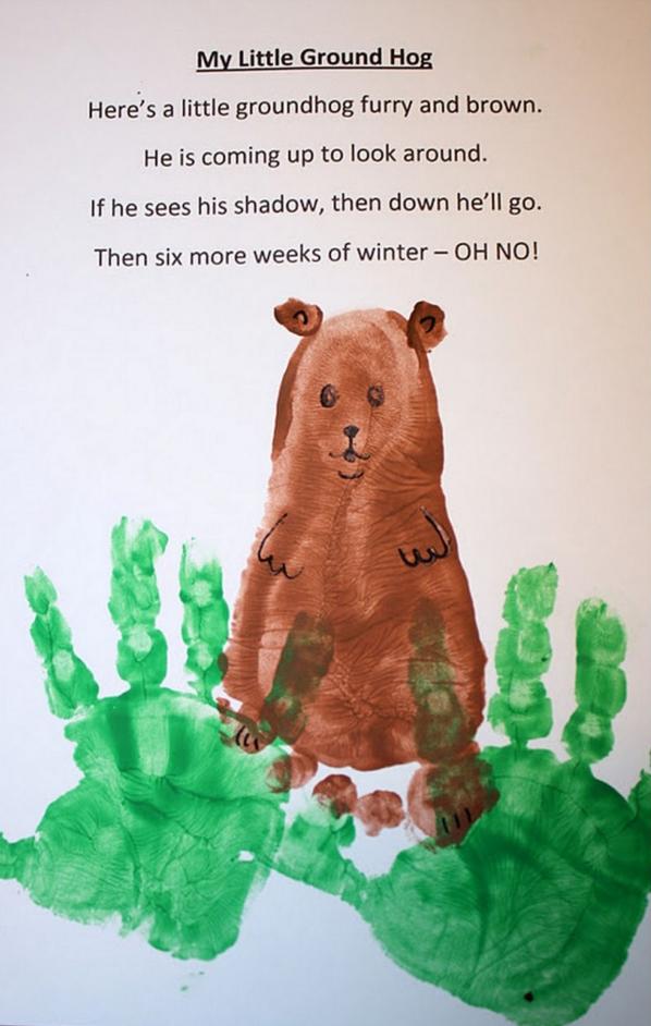 groundhog-hand-and-foot-print-craft
