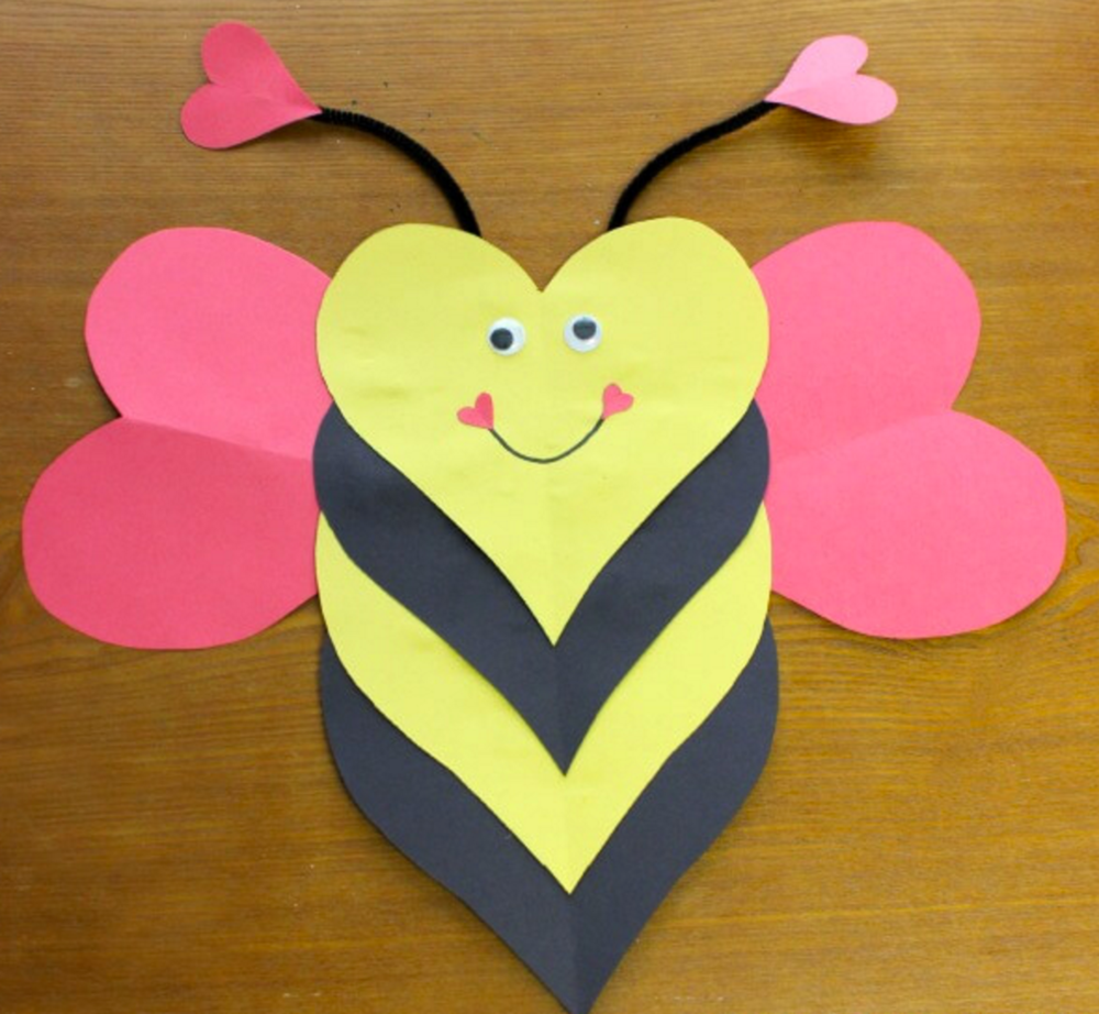 Valentine Day Craft Ideas For Kids Part - 47: Bee Mine Valentine Craft