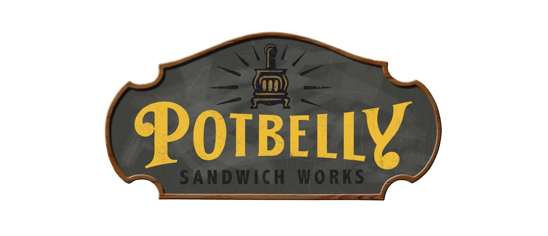 Potbelly Logo Potbelly Sandwich Shop  Bruce Hale Design