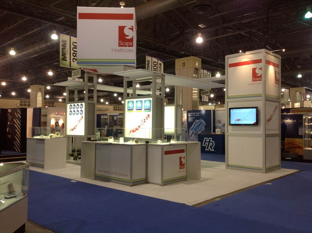 Octanorm Island trade show stand