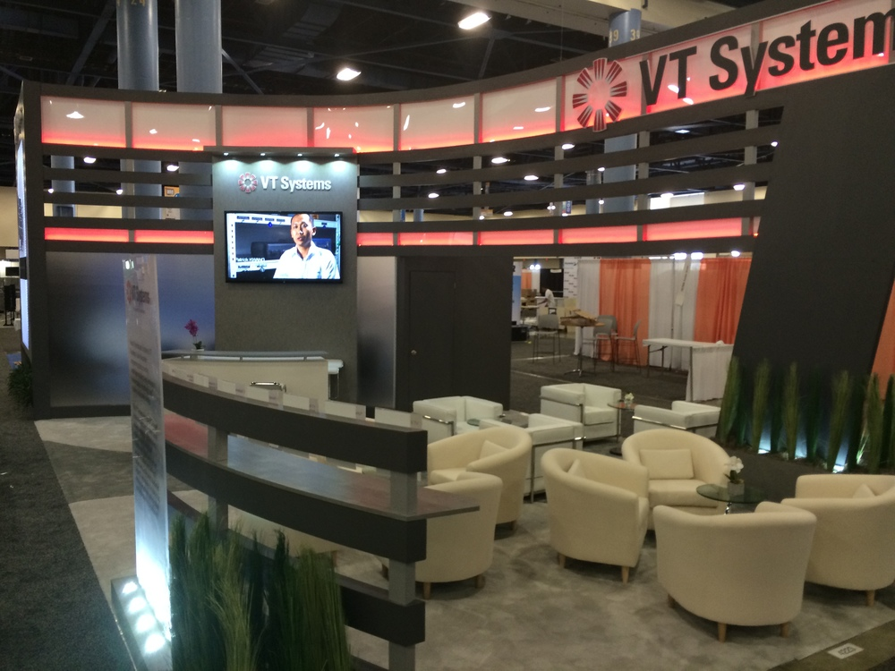 Custom Island trade show island exhibit at the MRO Show