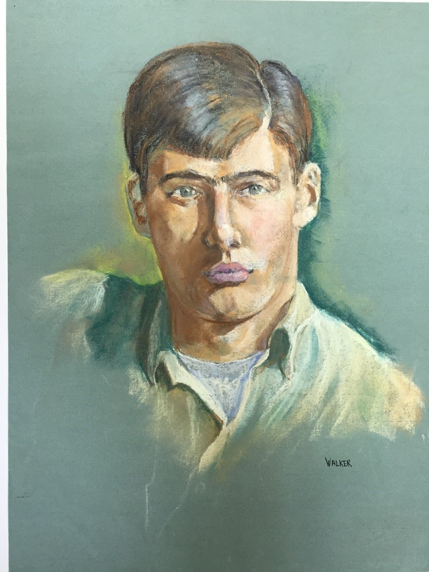 Self Portrait, pastel