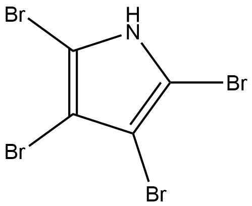 Tetrabromopyrrole, a coral settlement cue. It's got bromine atoms AND an aromatic/planar ring. Woo hoo!