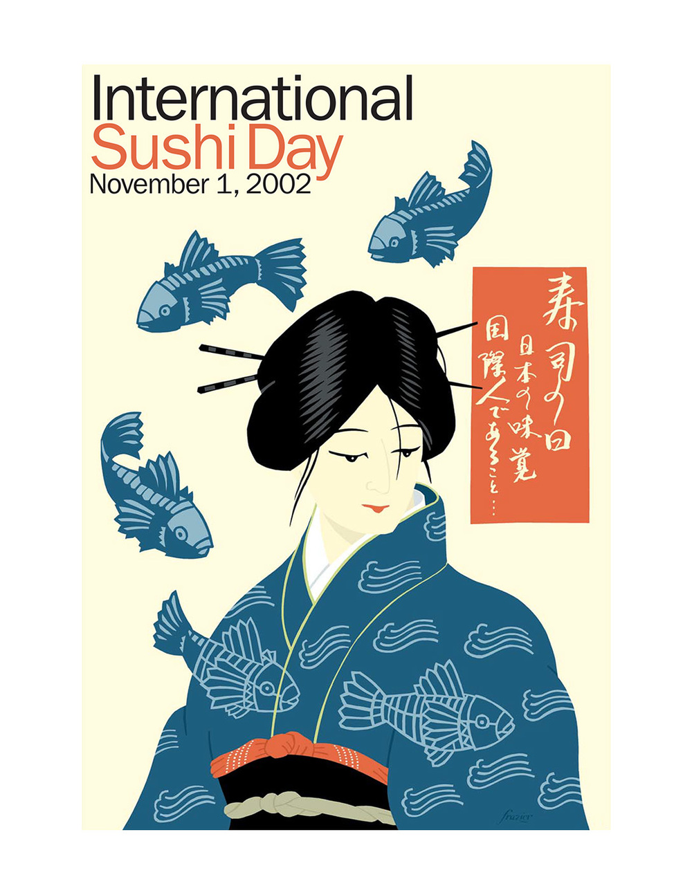 International Sushi Day poster