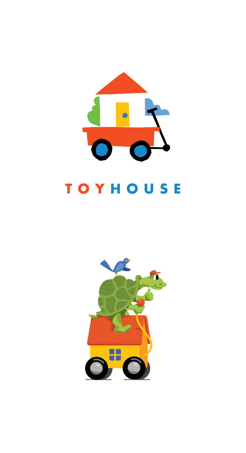 Children's toy store identity. (alternate design below)