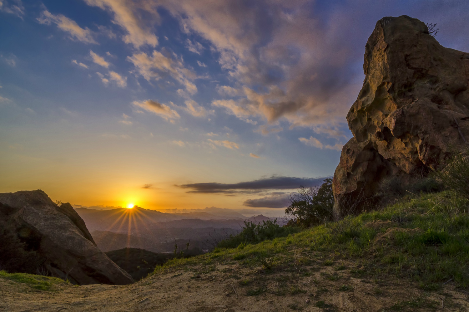 Topanga Canyon, California Sunset. Wasim Muklashy Photography.