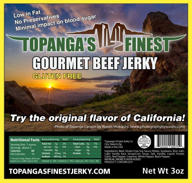 Topanga Finest Beef Jerky. Wasim Muklashy Photography