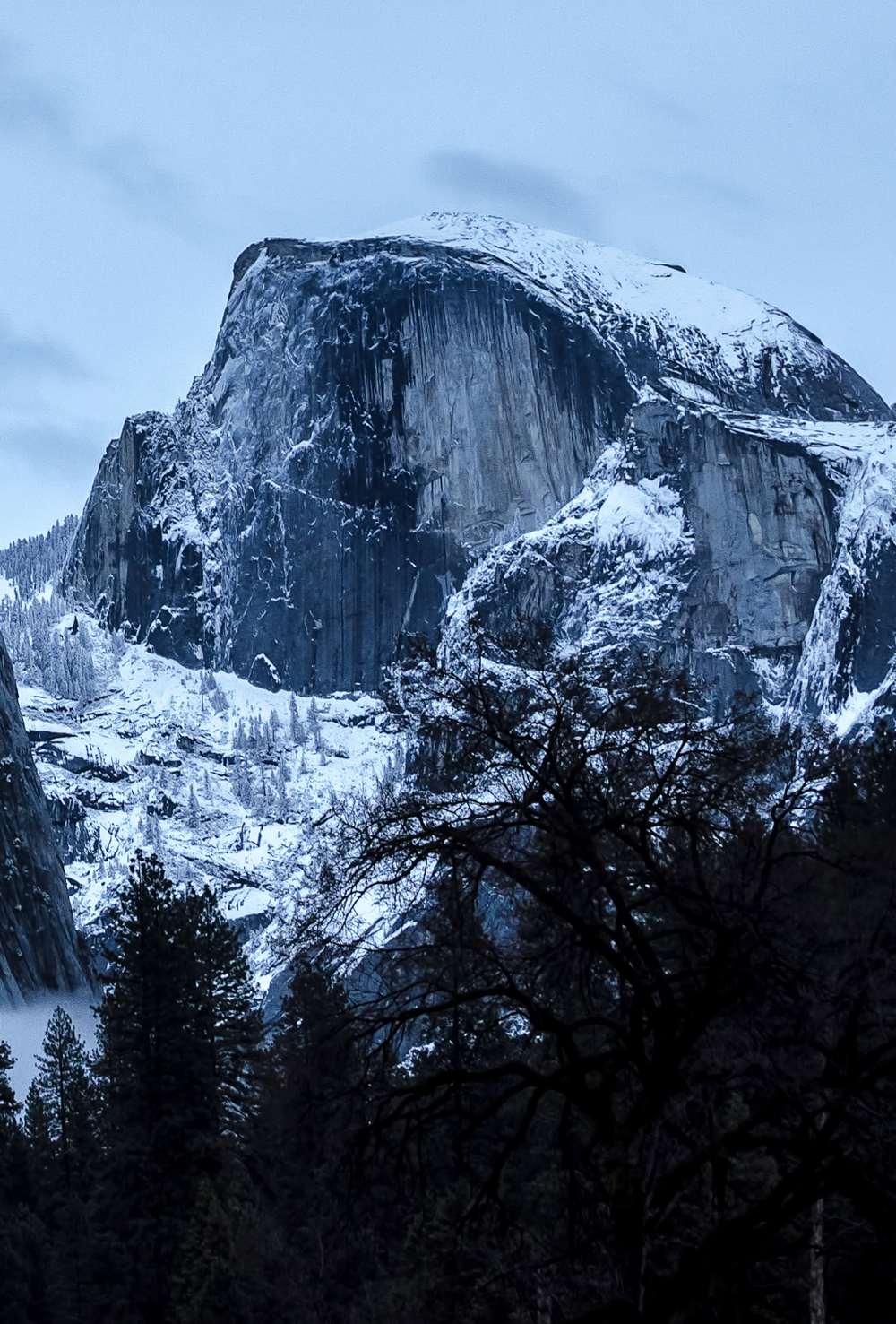 half dome after the storm.