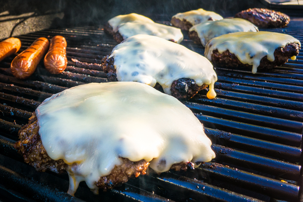 Zach Rosenberg Photography_Cheeseburgers On Grill